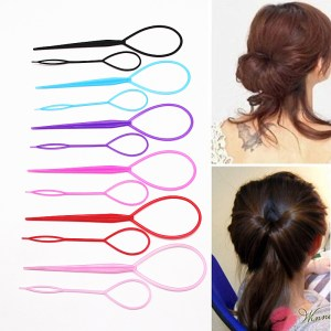 2 Pcs Topsy Tool Hair Braid Twist Braider Hook Bun Ponytail Tail Styling Tool