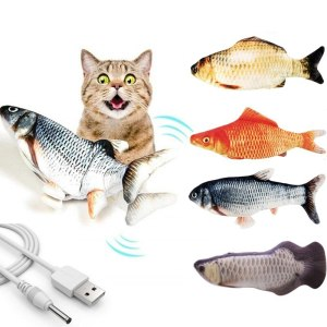 30CM Pet Cat Toy USB Charging Simulation Electronic Pet Cat Toy Dancing Moving Floppy Fish Cats Toy