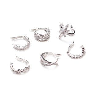 1Pc 10mm Fake Piercing Jewelry Adjustable Helix Cartilage Conch Cz Ear Cuff No Piercing Conch Cuff Earring