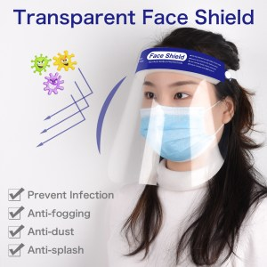 10Pcs Full Face Masks Anti-droplets Anti-fog Dust-proof Face Shield Protective Cover