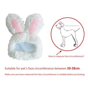 Funny Pet Dog Cat Rabbit Ears Hat Rabbit Wig Costume Winter Warm Puppy Headwea