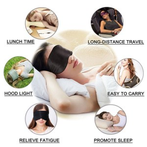 Sleeping Mask 3D Super-Soft Breathable Fabric Eyeshade Eye Mask Portable Aid Eye Mask Cover Eyepatch for Travel Sleep Rest