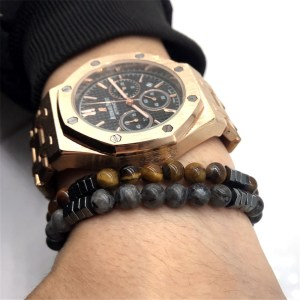 Fashion Geometric Beaded Men Bracelets Simple Classic Stone Bead Charm Bracelets & Bangles For Men Jewelry Gift