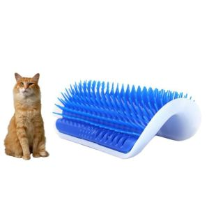 Cat Self Massage Device Groomer Pet Brush Hair Remover Comb Wall Mounted Hair Shedding Trimming