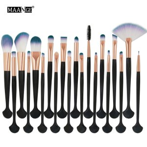 20Pcs Beauty Makeup Brushes Set Powder Foundation Eye Shadow Contour Concealer Cosmetic Shell Make Up Brush Tools Kit Maquiagem