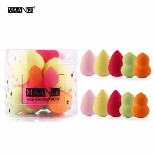 10Pcs/Box Mini Cute Powder Foundation Makeup Cosmetic Concealer Highlight Sponge Puff Bigger in Water Face Beauty Tools