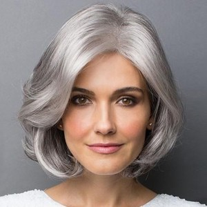 Wigs In The Elderly Short Curly Silver Gray Short Hair Chemical Fiber Fluffy Realistic Hair Set Points
