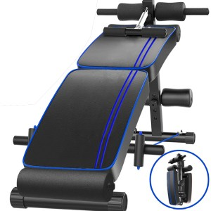 Foldable Sit Up Bench Ab Crunch Exercise Board Decline Fitness Workout Gym Home Dumbbell Bench