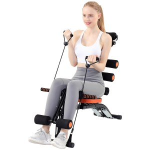 Fitness Sit Up Benches Abdominal Muscle Exercise Machine Pull Rope Workout Outdoor Gym Home