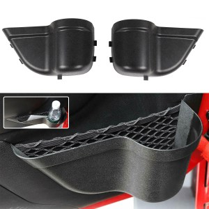 2PCS Door Pocket Storage Box With Isolation Net Black For Jeep Wrangler JK 2011-2017