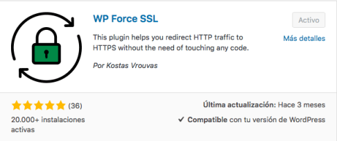 WP Force SSL plugin