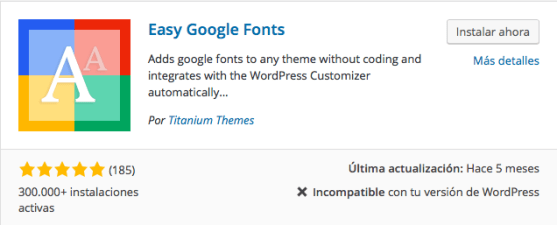 plugin easy google fonts
