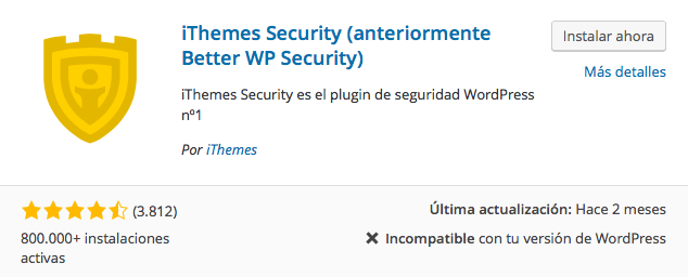 plugin ithemes security 1