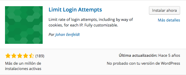 plugin limit login attempts 1