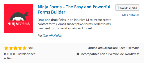 plugin ninja forms