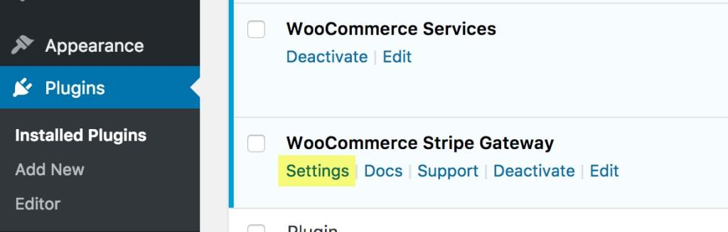 How to configure Stripe in WooCommerce - Dashboard