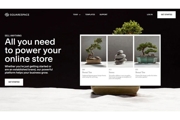 Squarespace Ecommerce Homepage