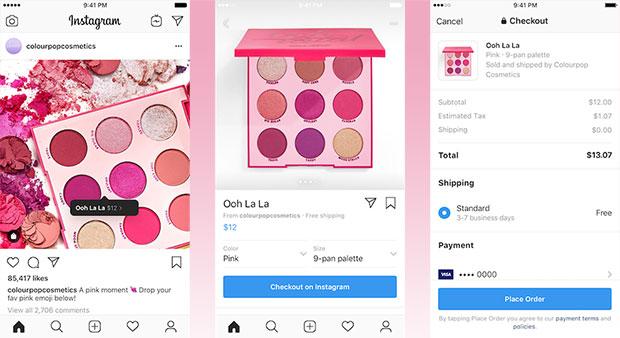 Instagram Checkout screenshots