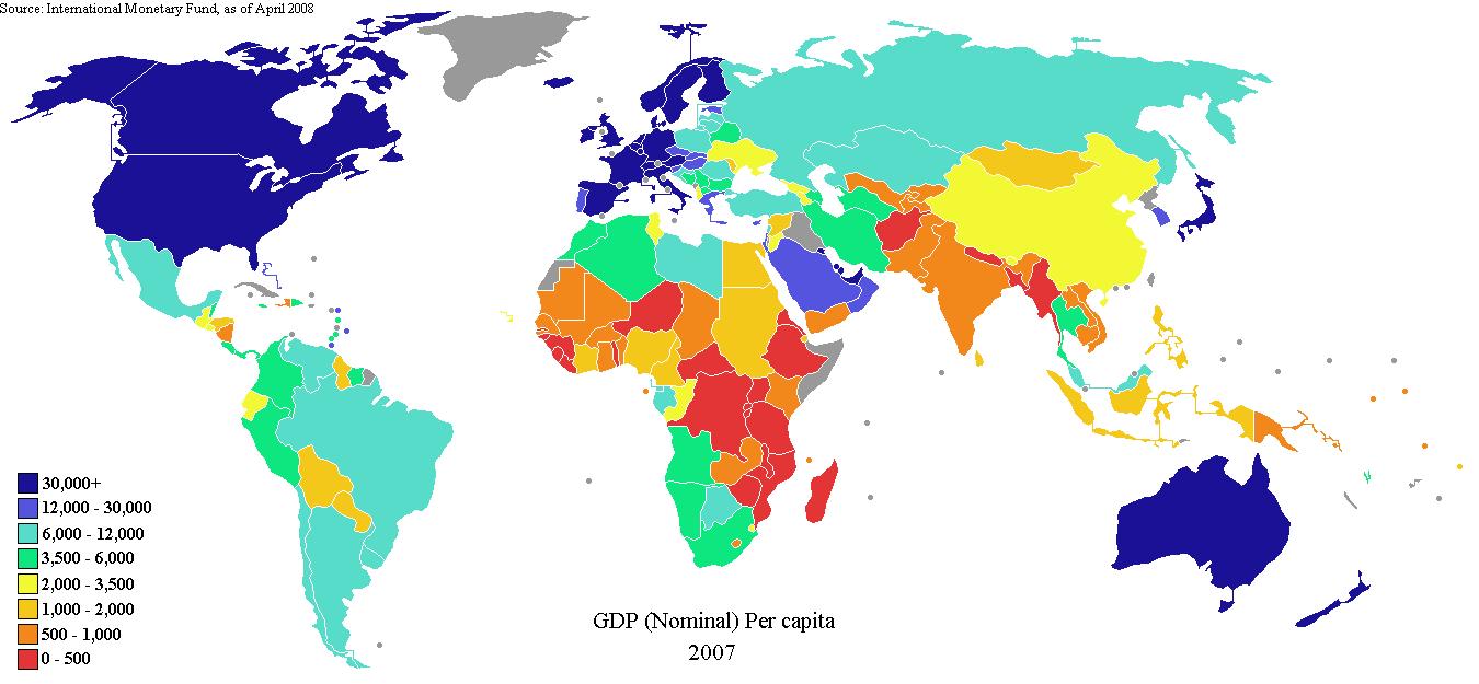 GDP per capita (2007)