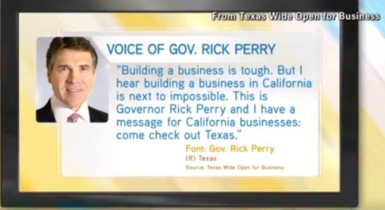Texas tries to lure businesses with tax incentives.
