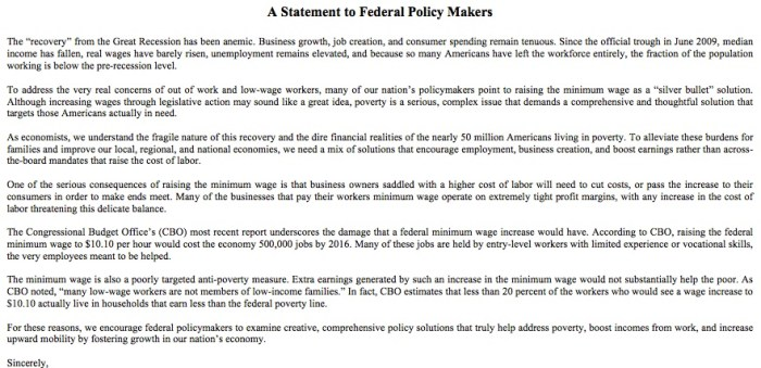 Minimum Wage Background And Debate