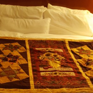 View of sunflower quilt