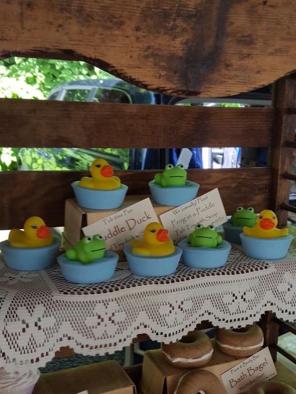 Soaps shaped like ducks