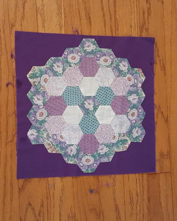 Quilt Block of hexagons