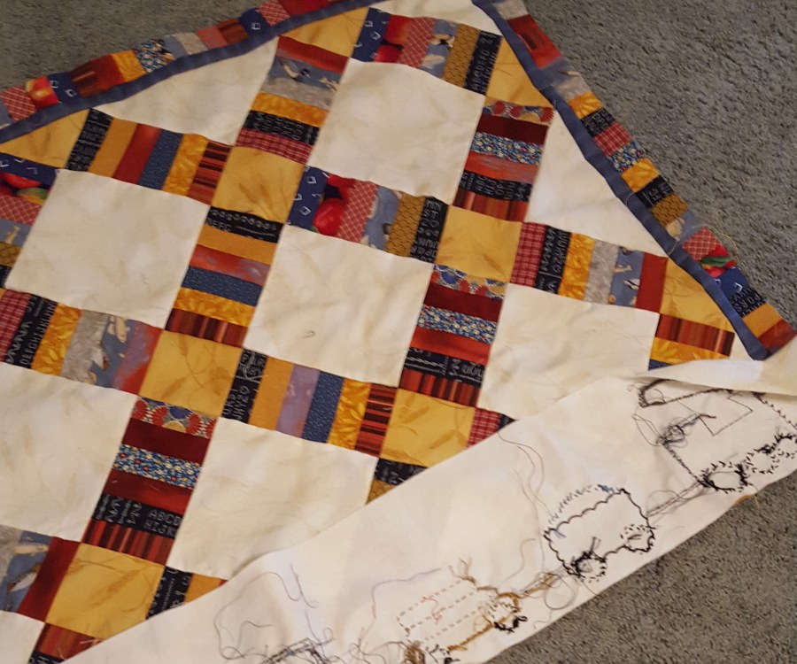 Adding outer border to center of quilt