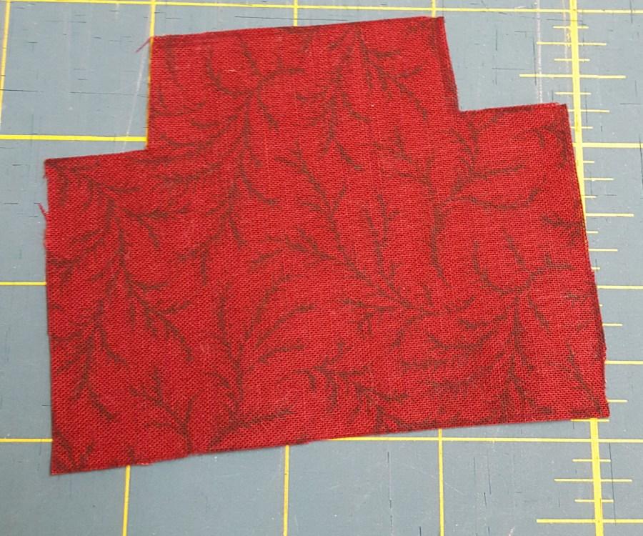 fabric cutout of caboose