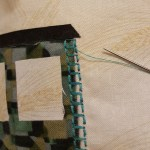 Machine Decorative Stitching outlines passenger car