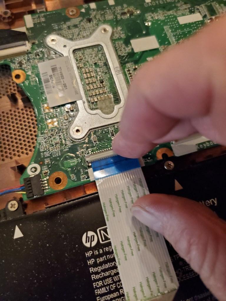 Reattaching Keyboard Ribbon connectors