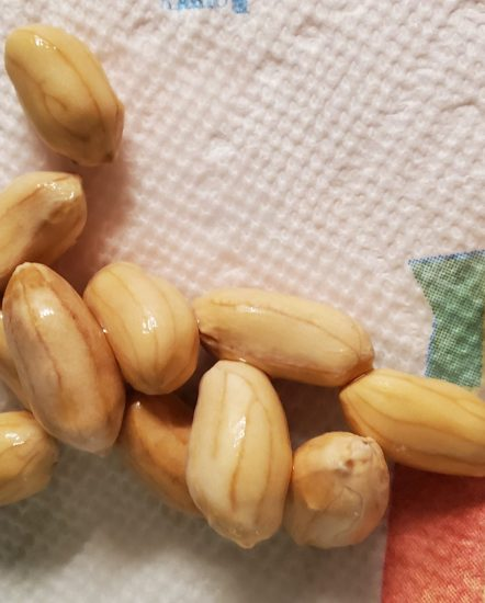 Edible soaked peanuts