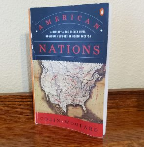 Well worn cover of the book American Nations
