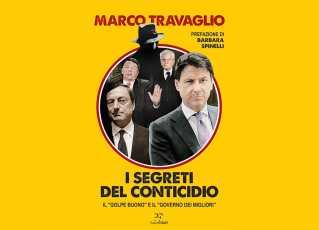 """Copertina libro Travaglio su Conte titolo """"I segreti del Conticidio"""""""