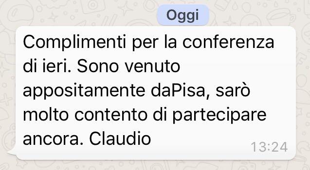 Vicenza 4.0 sms da Pisa