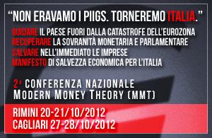 Il 20/21 Ottobre vieni con noi al Secondo Summit MODERN MONEY THEORY di Rimini