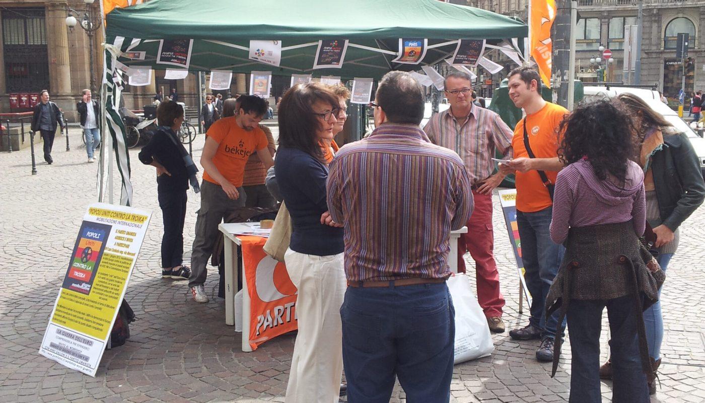 1 giugno Popoli Uniti Contro la Troika - Milano