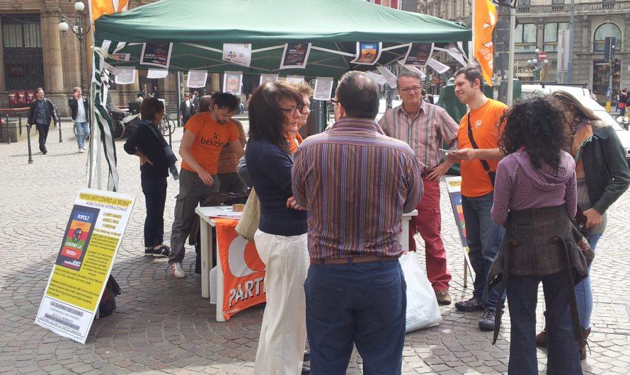 Presidio del primo giugno contro la troika a Milano