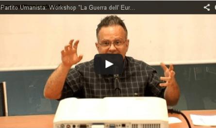 Valerio Colombo Workshop la Guerra dell' Euro