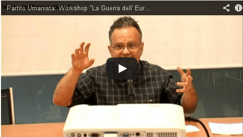 "Introduzione workshop ""La guerra dell'Euro"" di Valerio Colombo"