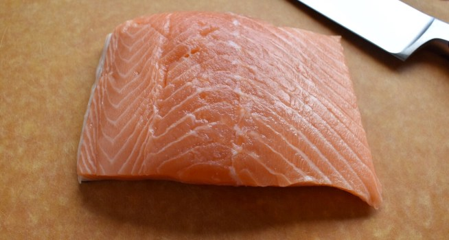 Pan Seared Salmon with Soy Ginger Glaze Raw Salmon