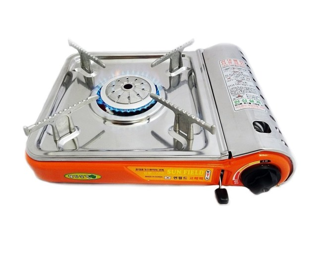 4. Excelife 87220 Portable Stainless steal Gas Stove with case, Silver