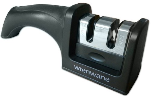 8. Wrenwane Kitchen Knife Sharpener - 2 Stage Sharpening, Black