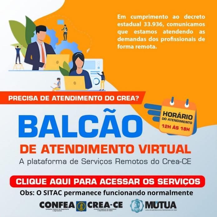 Em conformidade com o decreto 33.936, o Crea-CE retorna suas atividades administrativas ao regime remoto, passando a atender os profissionais e toda a sociedade de forma virtual.