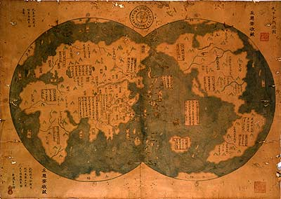 Chinese map (original from 1418)