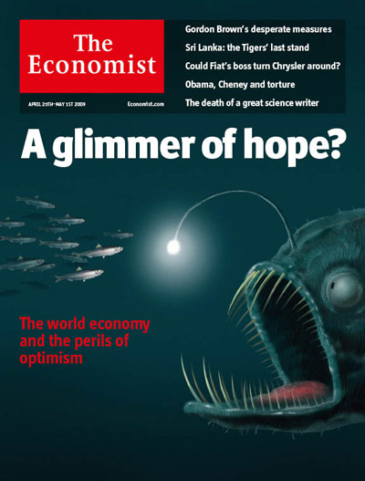 Cover, The Economist, North American edition, April 25-May 1, 2009