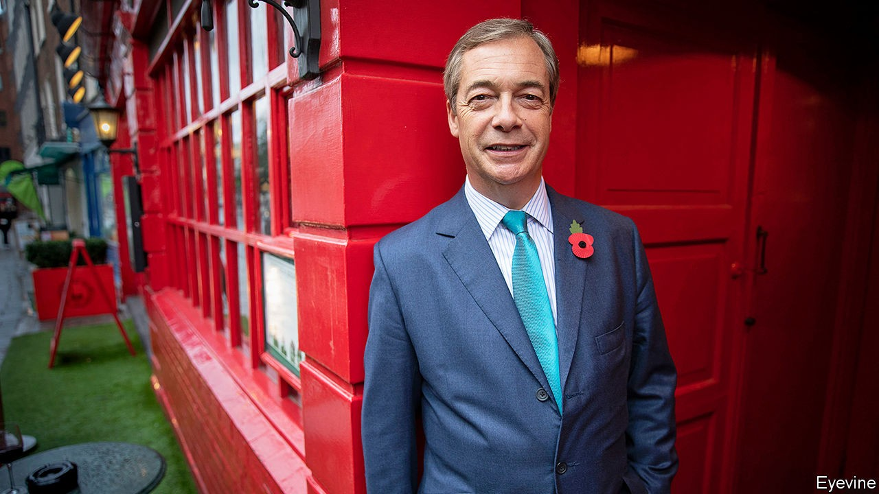 Look Who S Back Nigel Farage Returns To Torment The Conservative Party Britain The Economist