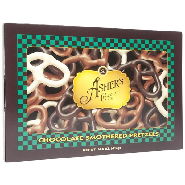 Asher's Chocolate Co. - Chocolate Smothered Pretzels Gift Box