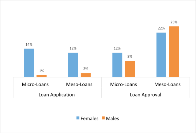Figure 1: Impact of Insured Loans on Loan Application and Approval